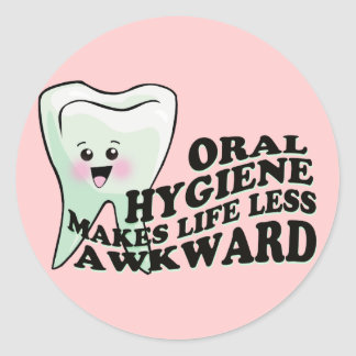 Cool kawaii style oral hygiene sticker
