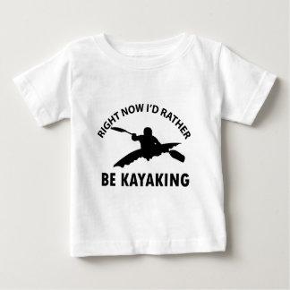 cool kayaking designs infant t-shirt