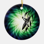 Cool Kayaking Double-Sided Ceramic Round Christmas Ornament