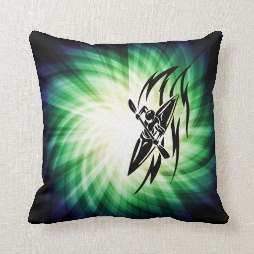Cool Kayaking Throw Pillows