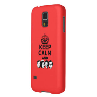 Cool keep calm and carry on galaxy s5 cover
