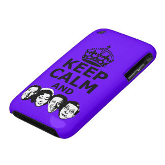 Cool keep calm and carry on iPhone 3 case