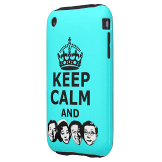 Cool keep calm and carry on iPhone 3 tough cover