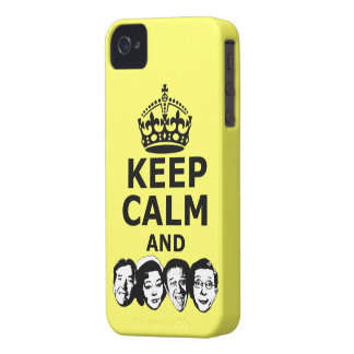Cool keep calm and carry on iPhone 4 Case-Mate case