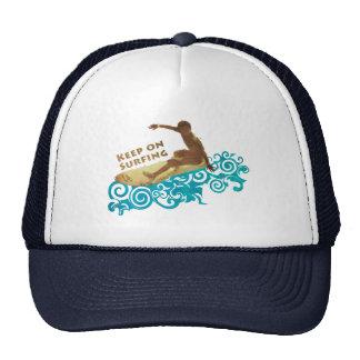 Cool Keep on Surfing Summer Surf Cap Trucker Hat