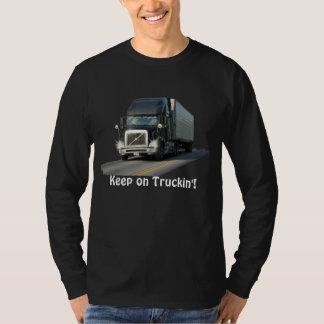 """Cool """"Keep on Truckin'"""" Freight Truck Driver Shirt"""