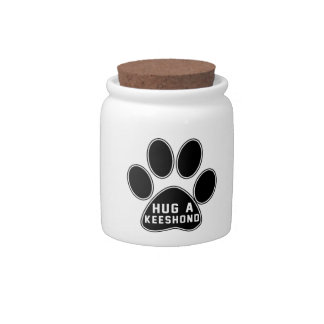 Cool Keeshond Designs Candy Jars