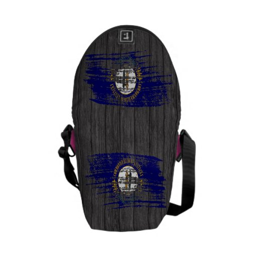 Cool Kentuckee flag design Courier Bags