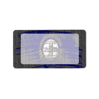 Cool Kentuckee flag design Label