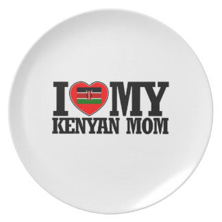 cool Kenyan  mom designs Melamine Plate