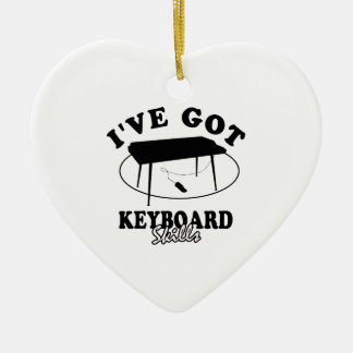 Cool  keyboard  musical instrument designs ceramic ornament
