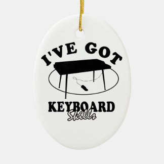 Cool  keyboard  musical instrument designs christmas tree ornament