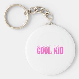 Cool Kid (Pink) Basic Round Button Keychain