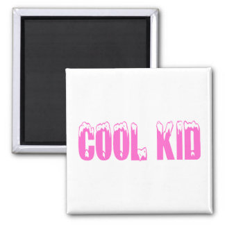Cool Kid (Pink) 2 Inch Square Magnet