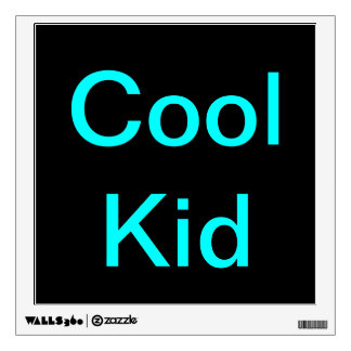 Cool Kid poster sticker