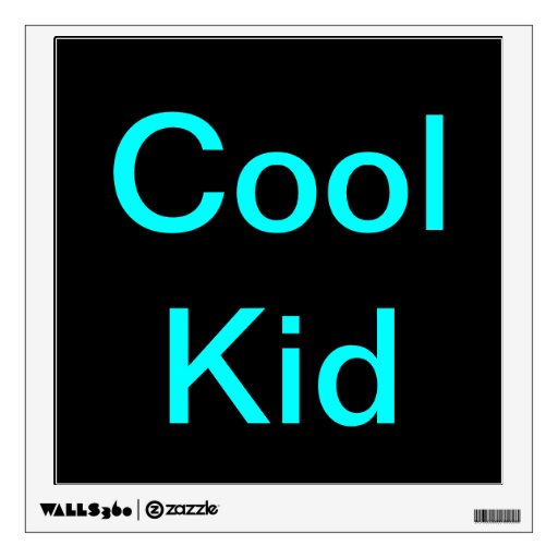 Cool kid poster sticker room stickers zazzle for Cool posters for your room