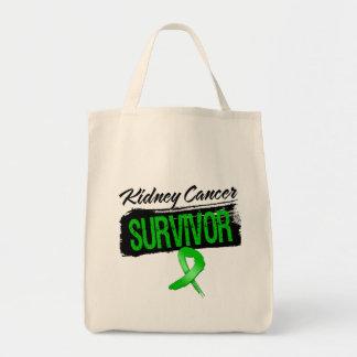 Cool Kidney Cancer Survivor (Green) Canvas Bags