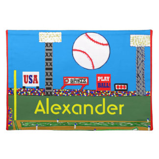 Cool Kids Baseball Placemat Made in USA Sport Gift