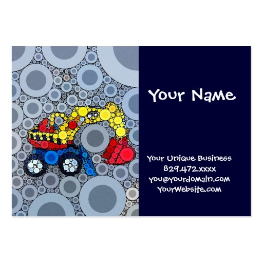 Cool Kids Construction Truck Excavator Digger Business Cards