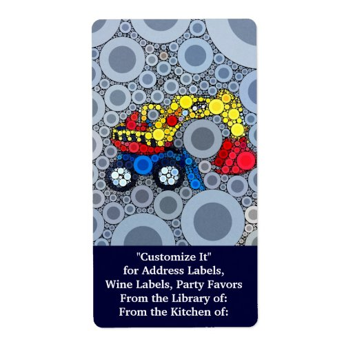 Cool Kids Construction Truck Excavator Digger Shipping Label