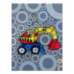 Cool Kids Construction Truck Excavator Digger Poster