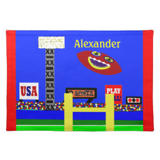 Cool Kids Football Placemat Made in America Gift