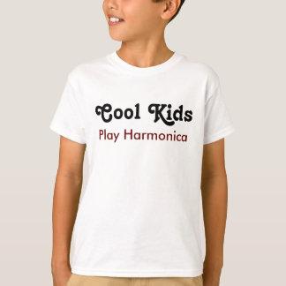 Cool kids Play harmonica T-Shirt