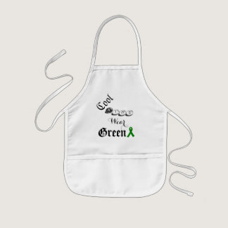 Cool Kids Wear Green Apron - Liver Cancer Ribbon