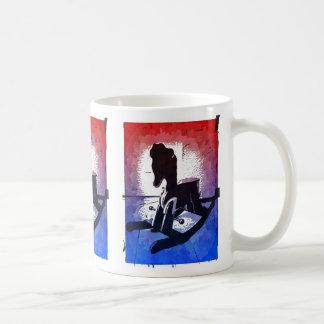 Cool Kids Wooden Rocking Horse Toy Pop Art Classic White Coffee Mug