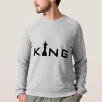 Cool King Typography Chess Player Sweatshirt
