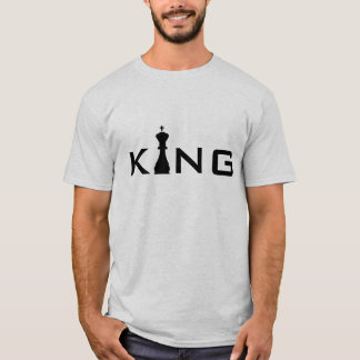 Cool King Typography Chess Player T-Shirt