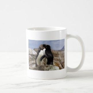 cool kissing penguins coffee mug