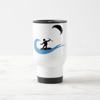 Cool kitesurfing mug with kitesurf icon