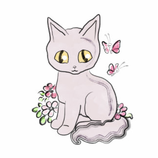 Cool Kitty Cat Pink Photo Cut Outs