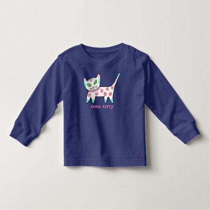 Cool Kitty Kids Toddler T-shirt