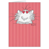 COOL KITTY Valentines by Boynton Greeting Card
