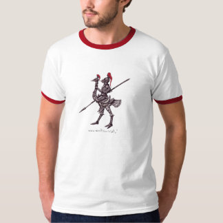 Cool knight on ostrich graphic art t-shirt