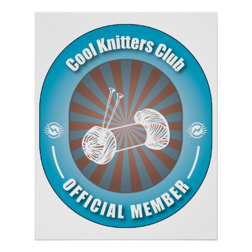 Cool Knitters Club Poster