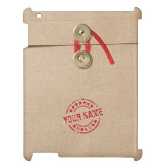 Cool Kraft Envelope with Custom Name Red Seal iPad Cases