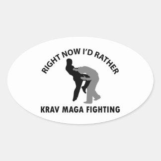 cool Krav maga  designs Oval Sticker
