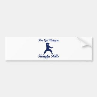 cool kung fu  designs bumper sticker