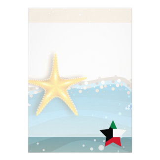 "Cool Kuwait Flag at the Beach 5"" X 7"" Invitation Card"