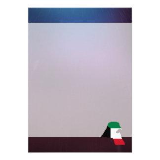 "Cool kuwait Flag Map 5"" X 7"" Invitation Card"