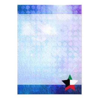 "Cool Kuwait Flag Star 5"" X 7"" Invitation Card"