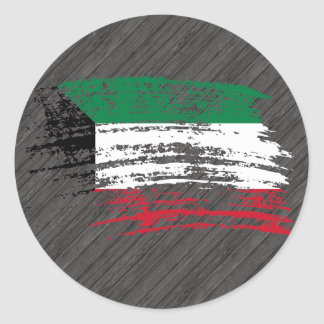 Cool Kuwaiti flag design Classic Round Sticker