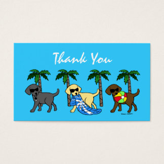 Cool Labradors Thank You Card
