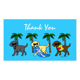 Cool Labradors Thank You Card Business Cards