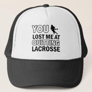 Cool lacrosse designs trucker hat