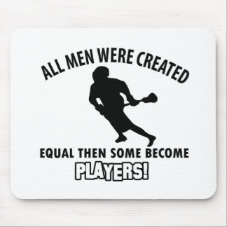 cool lacrosse player design mouse pad