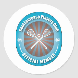 Cool Lacrosse Players Club Classic Round Sticker